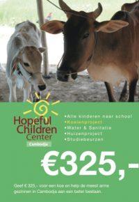 Geef € 325,- voor een koe en help de meest arme gezinnen in Cambodja aan een beter bestaan.